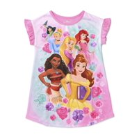 Disney Princess Toddler Girls Short Sleeve Nightgown Pajamas