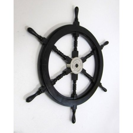 India Overseas Trading Sh87631a   Pirate Ship Wheel W  Aluminum Hub  30