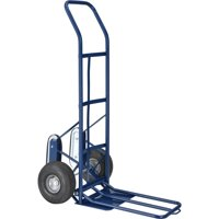 Industrial Strength Steel Hand Truck with Curved Handle & Stair Climbers
