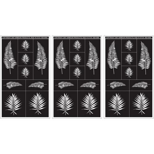 """Rub 'N' Etch Designer Stencils 5"""" x 8"""", 3/Pkg"""