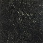 "Achim Nexus 12""x12"" 1.2mm Peel & Stick Vinyl Floor Tiles 20 Tiles/20 Sq. Ft. Black with White Vein Marble Flooring Materials"