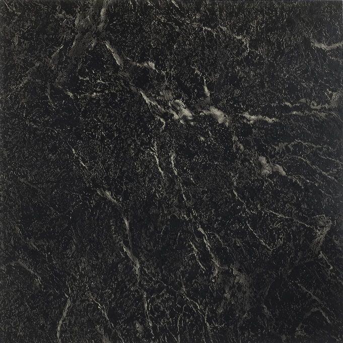 Achim Nexus Black with White Vein Marble 12x12 Self Adhesive Vinyl Floor Tile - 20 Tiles/20 sq. ft.