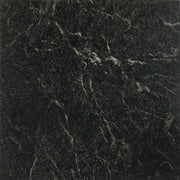 Achim Nexus Self Adhesive Vinyl Floor Tile - 20 Tiles/20 sq. ft., 12 x 12, Black with White Vein Marble