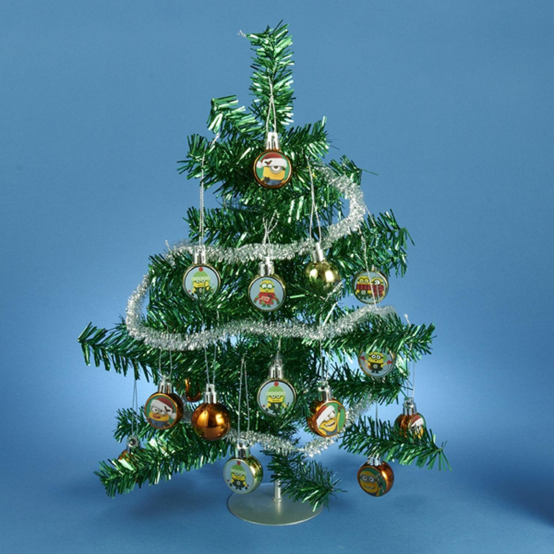 Despicable Me Green Tinsel Mini Christmas Tree Table Top ...