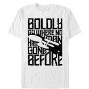 Star Trek Men's Boldly Go Enterprise Journey T-Shirt