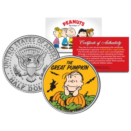 Peanuts HALLOWEEN GREAT PUMPKIN WITCH JFK Half Dollar U.S. Coin *Licensed*