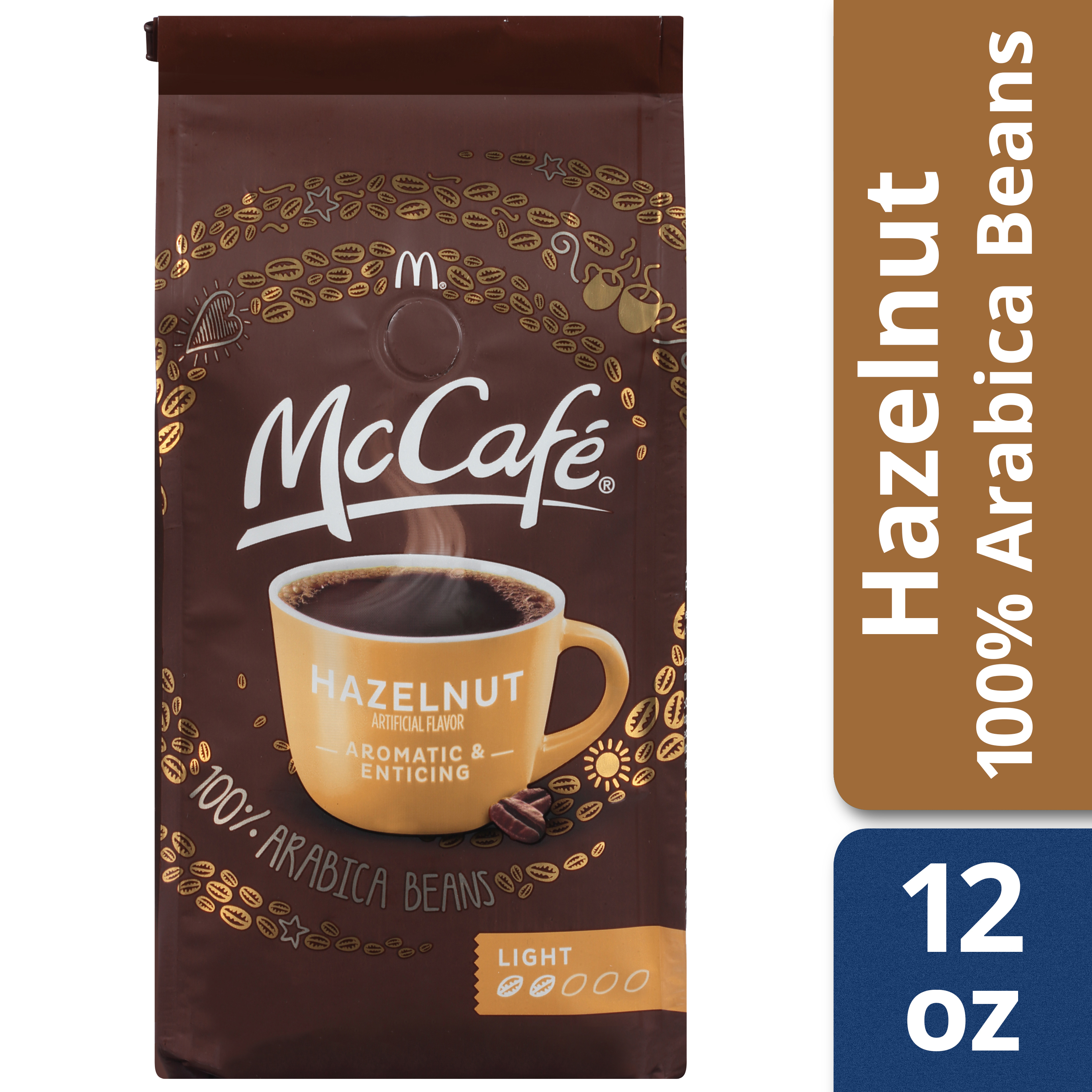 McCafe Hazelnut Ground Coffee 12 oz Bag