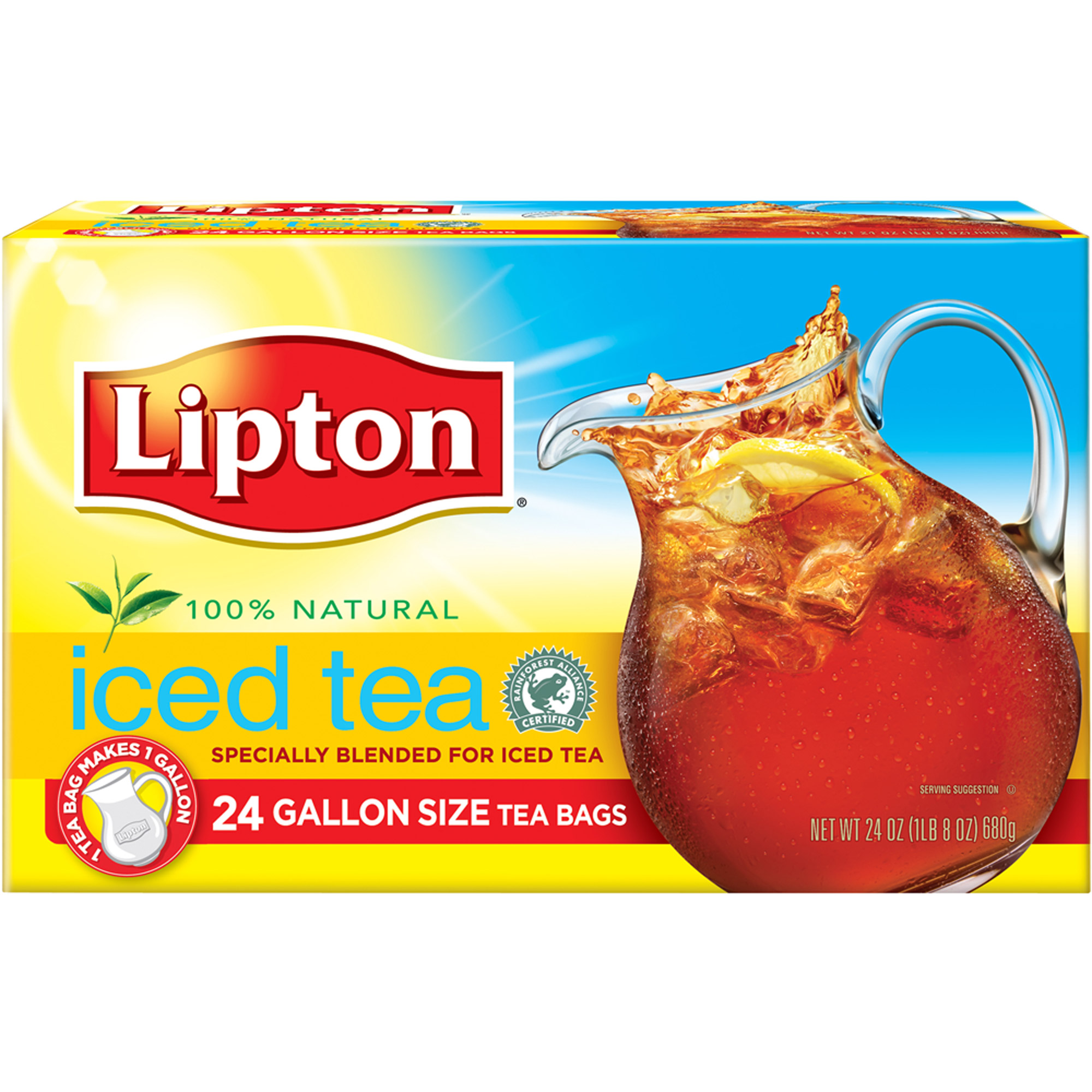 Lipton Gallon Size Black Iced Tea Bags, 24 ct