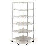 Zimtown 6-Tier Corner Restaurant Shelf Commercial Food Storage Silver