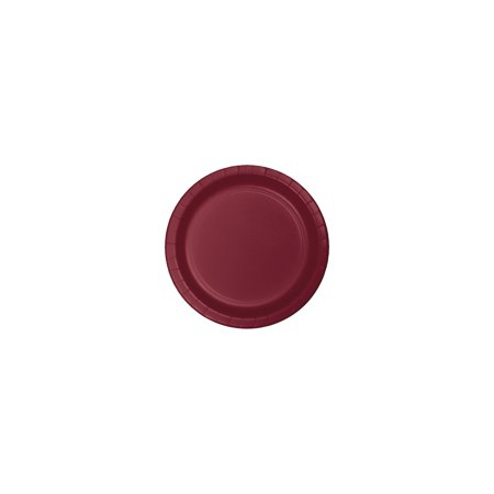 7 inch Roung Solid Paper Luncheon Plate Burgundy,Pack of 24 EA Maroon Luncheon Plate