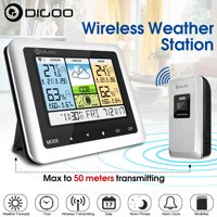 Digoo DG-TH8888Pro Weather StationTemperature & Humidity ThermometerColor Wireless USB Indoor/Outdoor Forecast Sensor Clock
