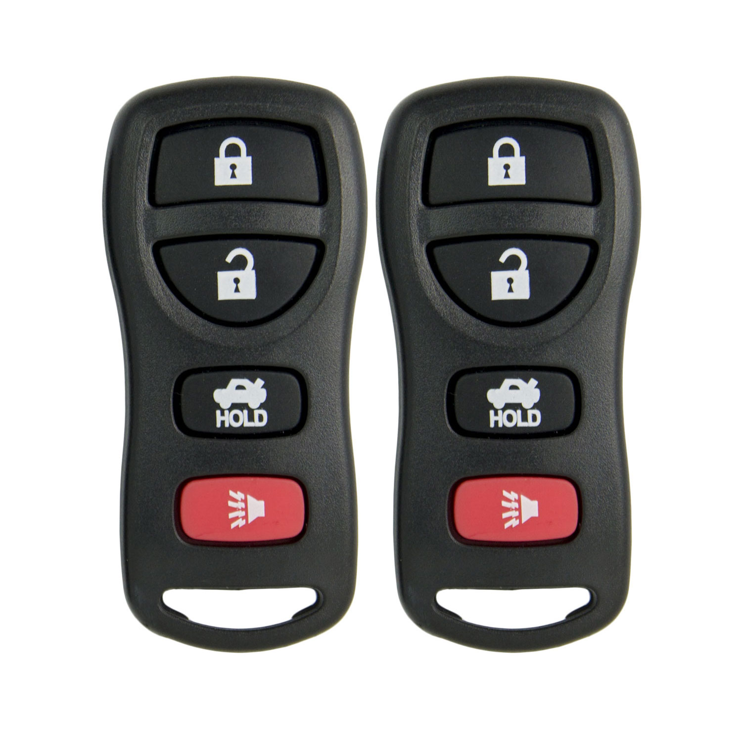 Keyless2Go New Replacement Shell Case and 4 Button Pad for Remote Key Fob with FCC KBRASTU15 - SHELL ONLY (2 Pack)
