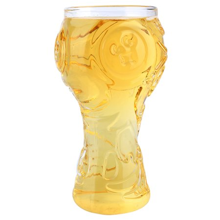 World-Cup Design Glass Cup Drinking Glasses Glassware Drinkware Transparent Personality Heat Resistant for Beer Wine All (Best Wine For Barbecue)