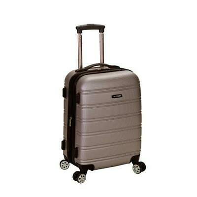 """Melbourne 20"""" Expandable Abs Carry On, Silver"""