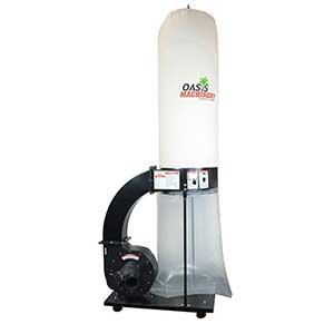 Oasis Machinery�DC1500�Heavy Duty 1.5 HP Wood Dust Collector (Black Color) by Oasis Machinery