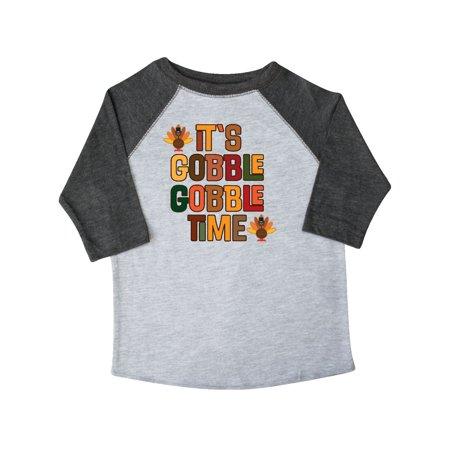 Thanksgiving Gobble Time Turkey Toddler T-Shirt for $<!---->