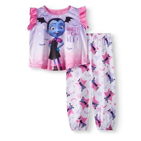 Vampirina Toddler girls' vampirina short sleeve top and pants, 2-piece pajama set](Toddler Pajamas Clearance)