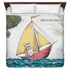 Where The Wild Things Are Max'S Boat King Duvet Cover White 104X88