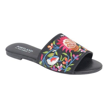 Portland Boot Company Lizzy Floral Slide Sandal (Women's) zmiouD