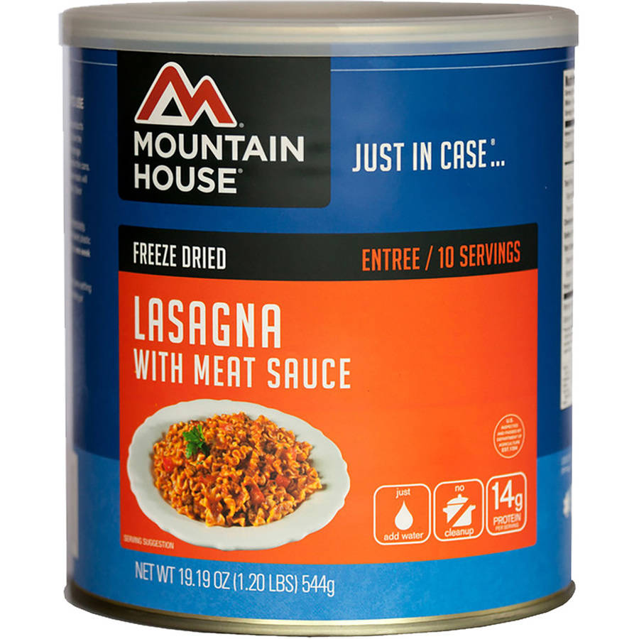 Mountain House Freeze Dried Lasagna with Meat Sauce Can