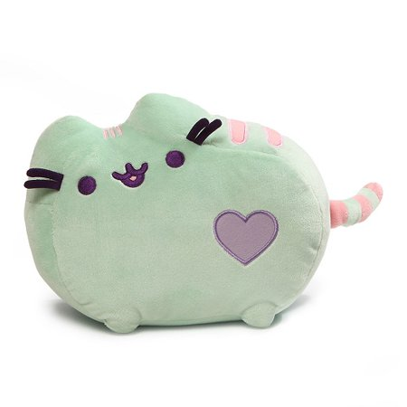 gund pusheen pastel heart cat plush, mint green, 12