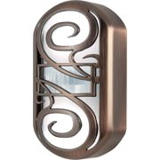GE Motion-Activated LED CoverLite Night Light, Plug-In, Swirl Design, Oil Rubbed Bronze, 11465