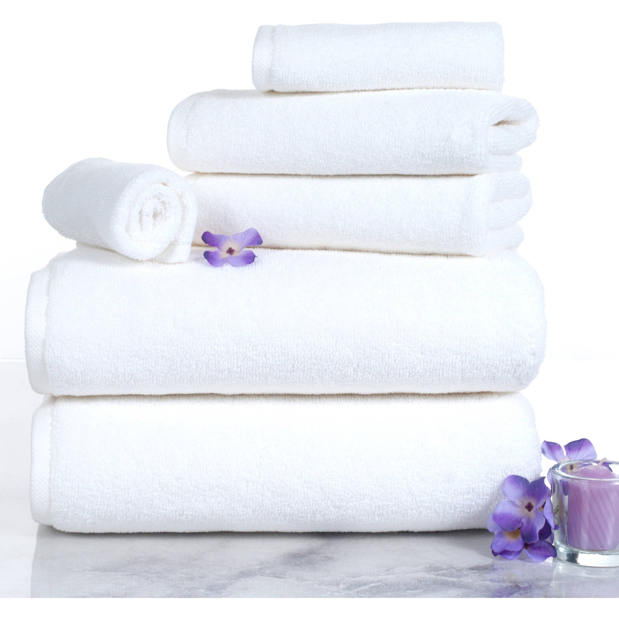 100 percent cotton towel set zero twist soft and absorbent 6 piece set with