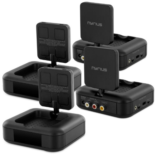 Nyrius NY-GS10 5.8GHz 4 Channel Wireless Audio/Video Transmitter System (2 Pack)