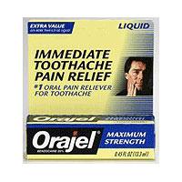 Orajel Maximum Strength Toothache Pain Relief Liquid - 0.45 Oz