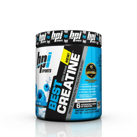 BPI Sports Best Creatine Powder, Blue Raspberry, 50 (Best Liquid To Take Creatine With)