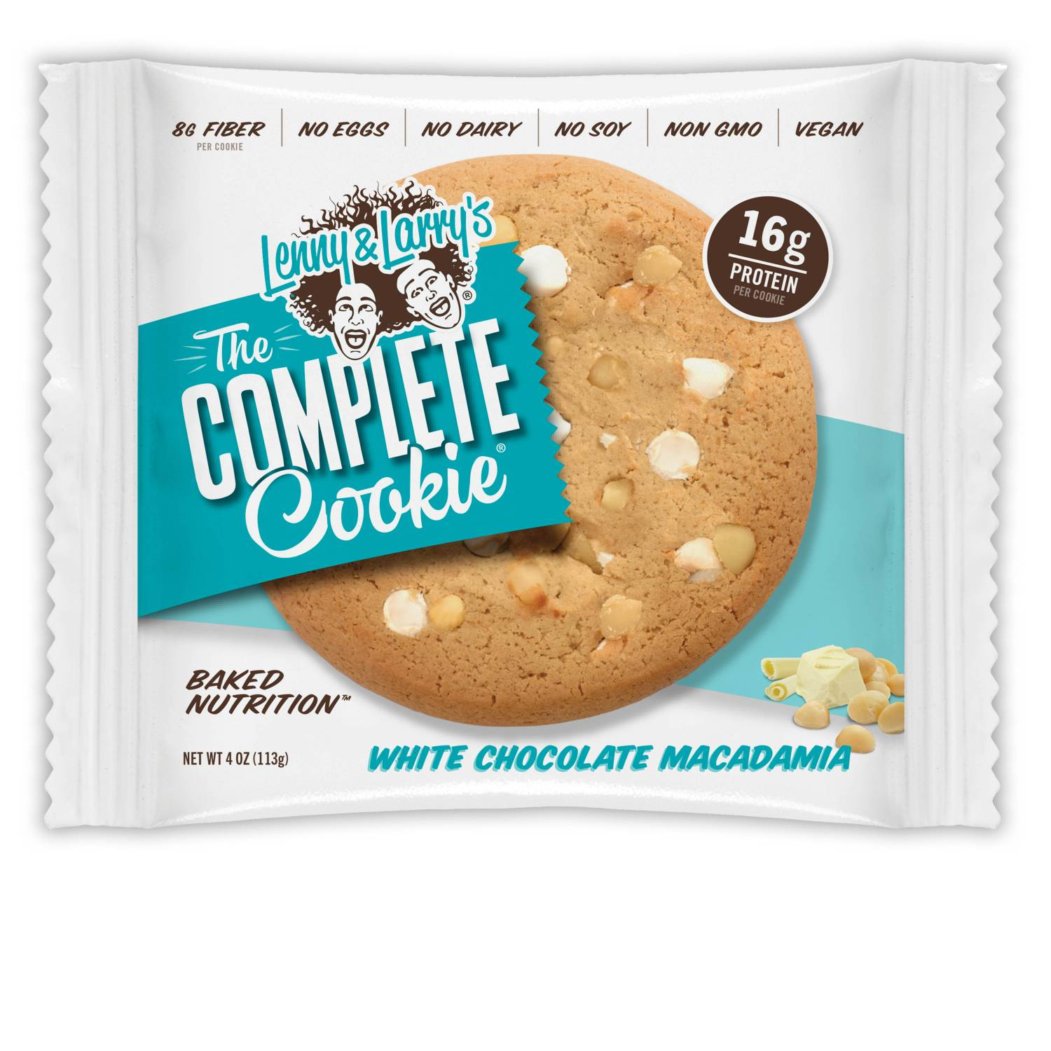 Lenny & Larry's The Complete Cookie, White Chocolate Macadamia, 16g Protein, 4 Ct