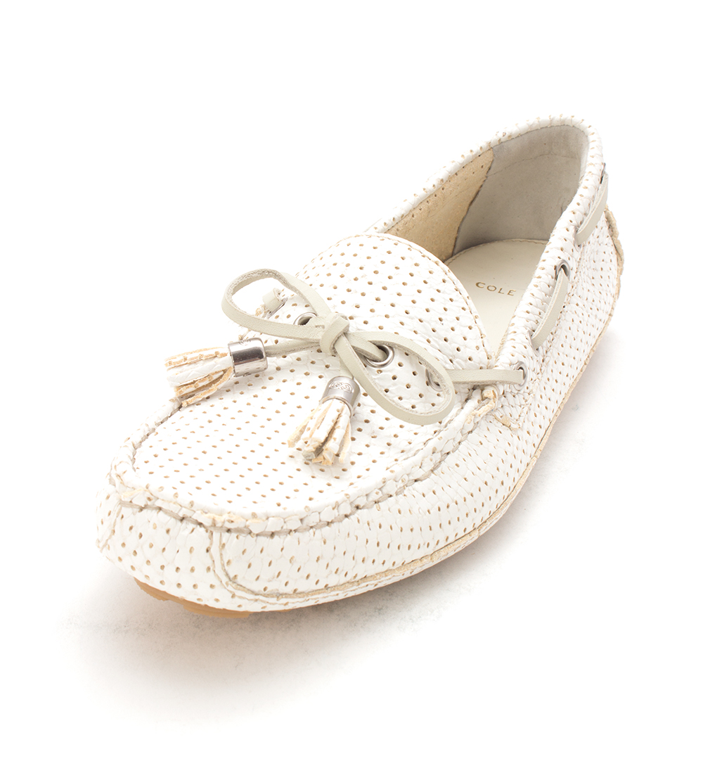 Cole Haan Womens Adeliasam Closed Toe Boat Shoes, optic White, Size 6.0