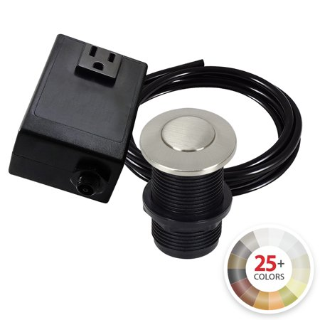 Single Outlet Garbage Disposal Sink Top Switch Kit. Available in 25+ Finishes.