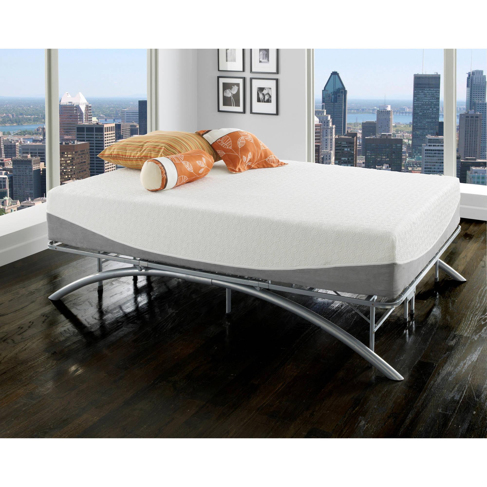 Premier Ellipse Arch Platform Bed Frame, Brushed Silver - Walmart.com
