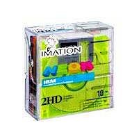 Imation 3.5 DS-HD IBM PC Formatted (Neon Colors, 10-Pack) (Discontinued by