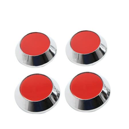 4pcs 65mm Dia 4 Pneu Roue Voiture Clips Couvre moyeu Protector Rouge Ton Argent - image 1 de 4
