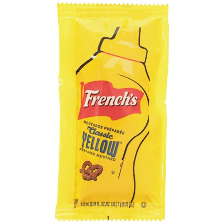 French's® Classic Yellow® Mustard Single Serve Packets 500-0.25 oz. Packets