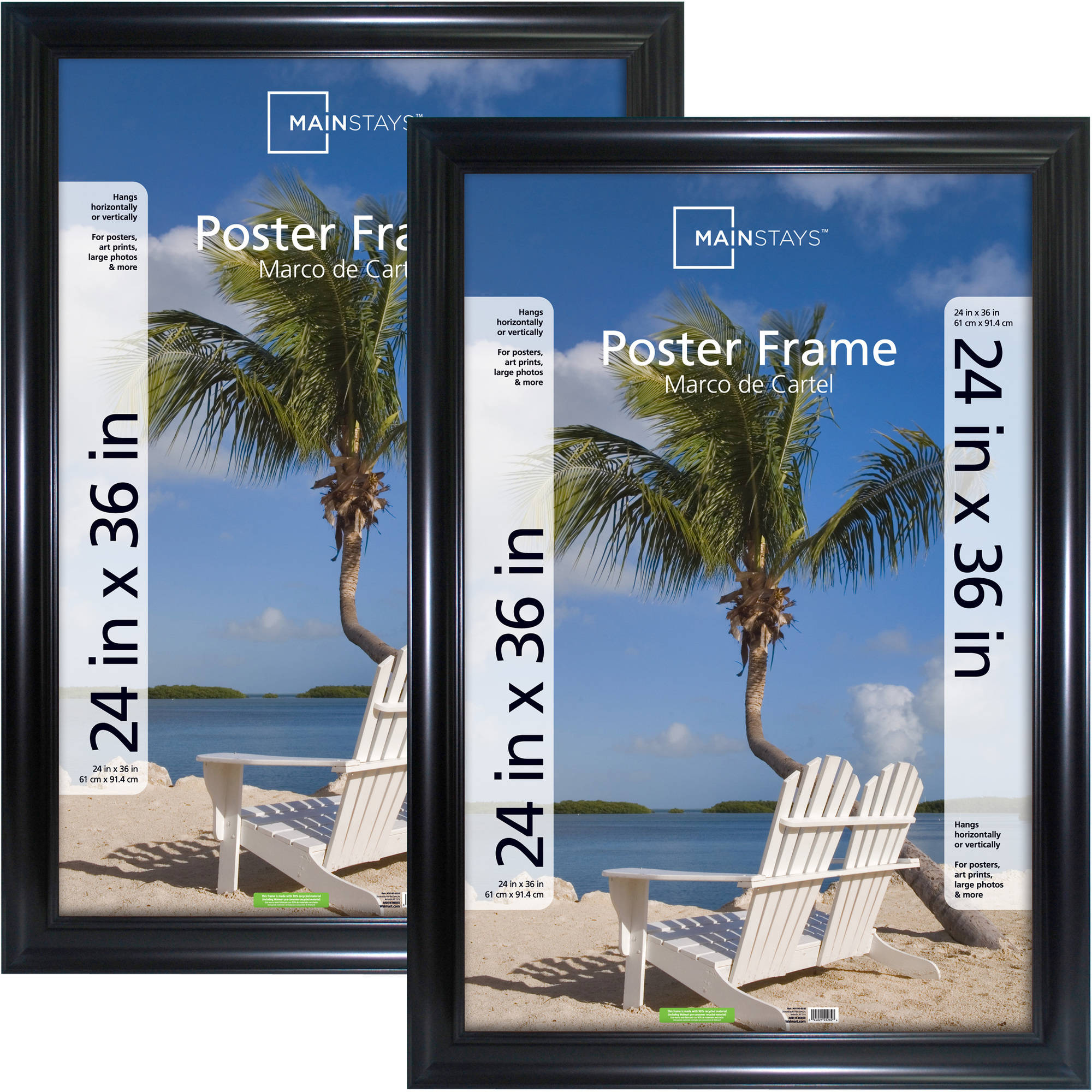 Upc 044021276853 Mainstays 24x36 Wide Poster Frame