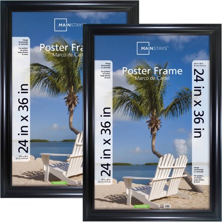 Mainstays 24x36 Wide Black Poster And Picture Frame Set
