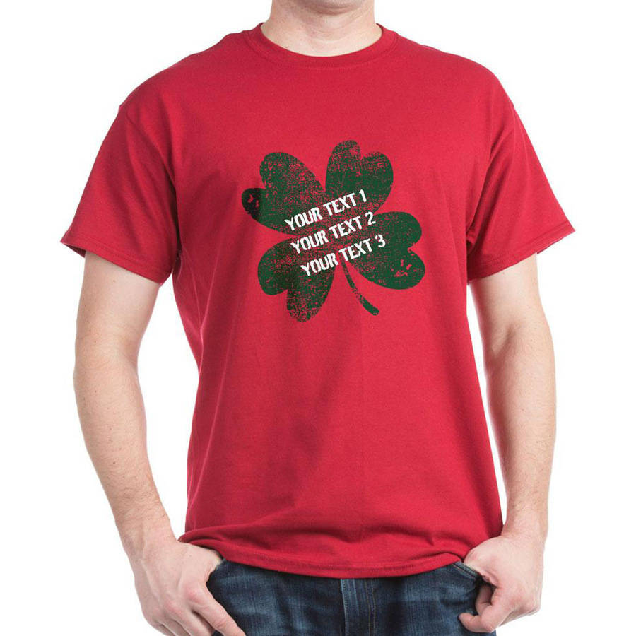 CafePress Personalized Your Funny St. Patrick's Day Dark T-Shirt