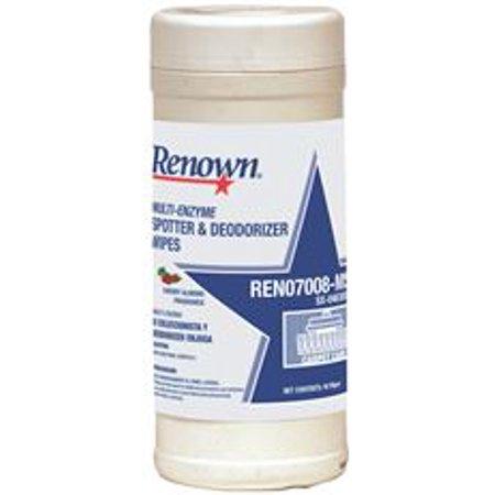 Renown REN07008-MS Renown multienzymatique Spotter et Deodorizer lingettes cerises et amandes, 1 bain (pack de 2)