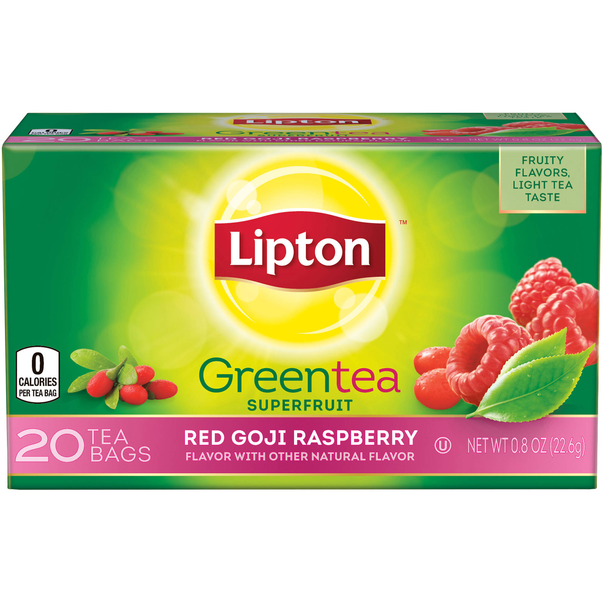 Lipton Red Goji Raspberry Green Tea, 20 ct