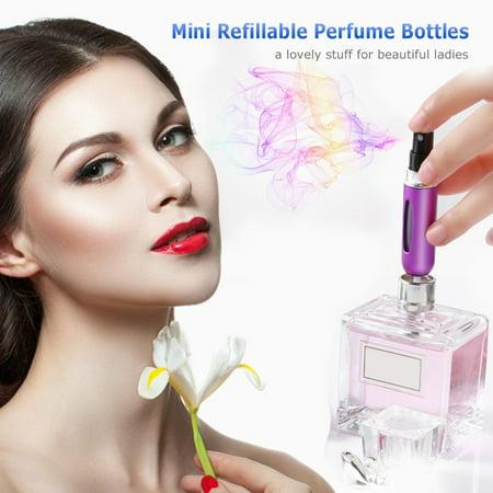 Mini pompe de jet rechargeable d'atomiseur de bouteilles de parfum rechargeable pour le voyage 5ml - image 2 of 6