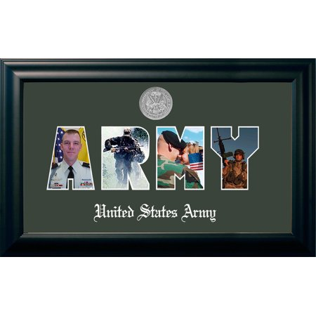 Medallion Picture Frame (Patriot Frame's Army Collage Black Photo Frame Silver)