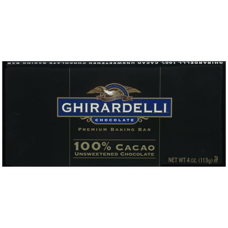 Ghirardelli Unsweetened Chocolate Baking Bar 4 Ounce