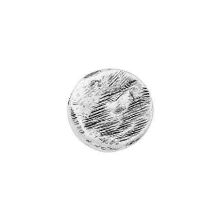 Beaded Circle Design (Nunn Design Bead, Textured Organic Flat Circle 10.5mm, 1 Piece, Antiqued Silver )