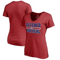 Montreal Canadiens Fanatics Branded Women's Hometown Collection Defend T-Shirt - Red