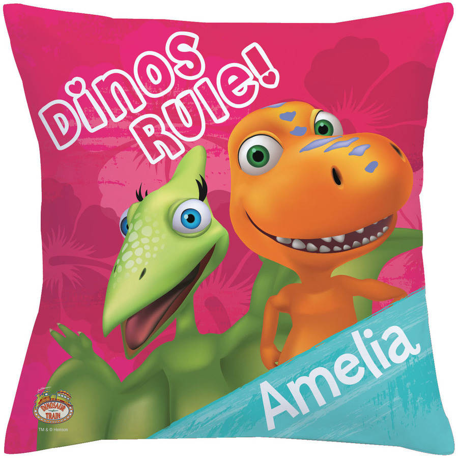 Personalized Dinosaur Train Dino Girls Rule Throw Pillow