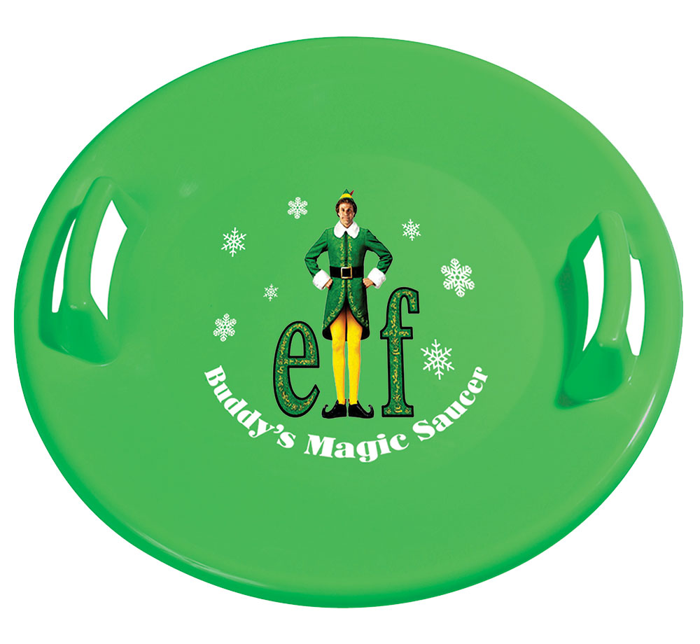 Buddy the Elf Downhill Pro Saucer Snow Sled by Slippery Racer