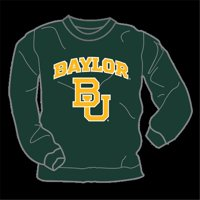W Republic College Crew-Neck Baylor University, Green - Small